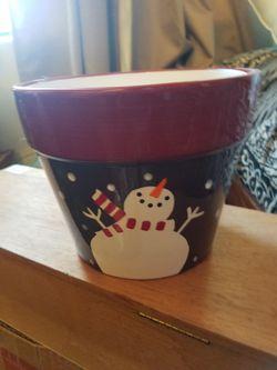 Snowman flower pot for Sale in Tucson,  AZ