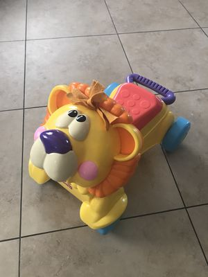 Lion - kids toy to ride or push for Sale in Phoenix, AZ