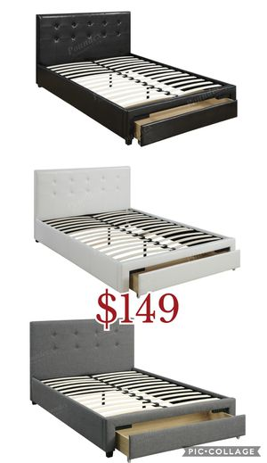 Full size bed frame //Queen bed frame, queen bed, queen, (not included mattress) for Sale in Los Angeles, CA