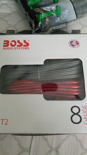 Description Boss audio system 8 gauge amplifier installation kit brand new never used. Handles up to 3000 watts. for Sale in Salt Lake City, UT