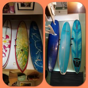 Look at these cool paddle boards and surfboards must see lots of fun for Sale in Irvine, CA