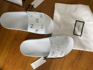 Brand new Women's rubber Gucci (GG slide) sandals 36 for Sale in Anaheim, CA