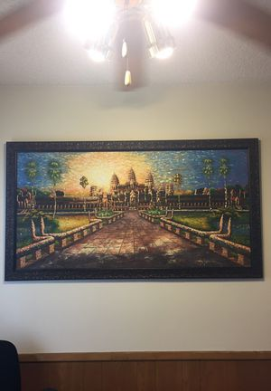 Painting of Cambodian Temple Ankor Wat with $300 frame for Sale in Santa Monica, CA