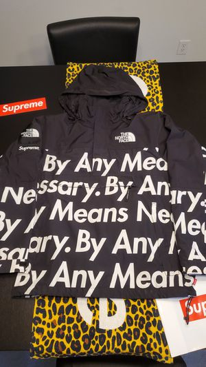 """Supreme x TNF """"BAMN"""" By Any Means Necessary Mountain Pullover Jacket FW15 - BLACK for Sale in Beaverton, OR"""