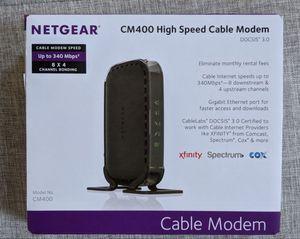 Netgear CM400 High Seed Cable Modem for Sale in Alpharetta, GA