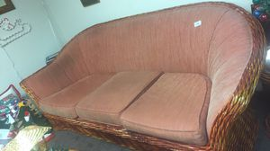 Wicker couch & 2 end tables for Sale in Lake Wales, FL