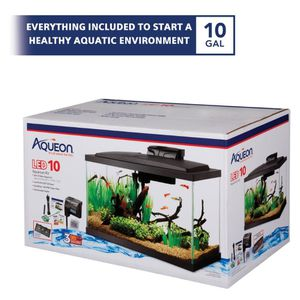 Aqueon LED Fish Aquarium Starter Kit, 10 gallon for Sale in South San Francisco, CA
