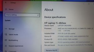 HP 15-db0042nr 15.6″ Notebook for Sale in Houston, TX