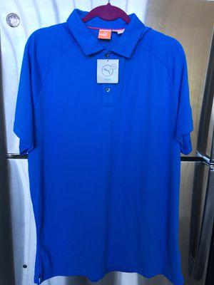 Puma men's golf/tennis/polo shirt. Size XL. Moisture wicking technology. for Sale in Dallas, TX