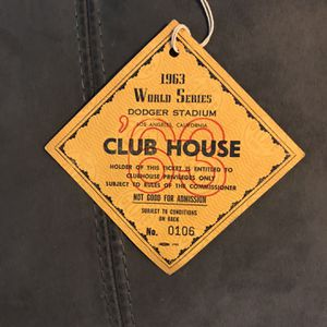 ORIGINAL 1963 DODGERS WORLD SERIES PRESS CLUB HOUSE PASS for Sale in Rialto, CA