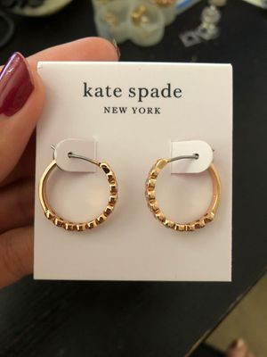 NWT Kate Spade Rose Gold Crystal Circle Earrings for Sale in San Francisco, CA