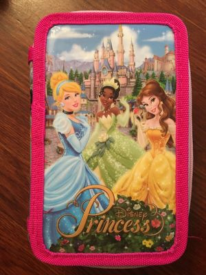 Disney Princess art supplies in double zip case for Sale in Great Neck, NY