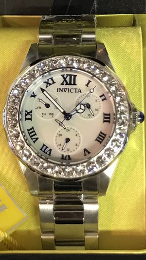Invicta Women's Angel 38mm White Dial Stainless Steel Crystal Watch for Sale in Buena Park, CA