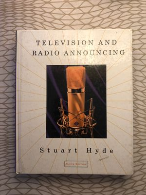 Television and Radio Announcing by Stuart Hyde (Ninth Edition) for Sale in South Pasadena, CA