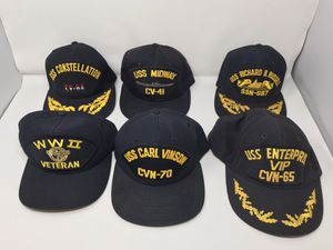 Vintage Lot of 6 US Navy Vintage Snapback Hats USS Ships for Sale in Livermore, CA