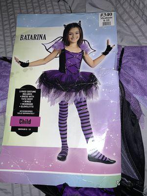 Batarina Girl size 8-10 / no leggings Halloween costume for Sale in Virginia Beach, VA