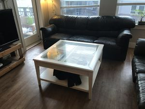 3 Black Leather Couches for Sale in Denver, CO