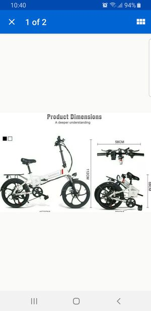 Brand new folding bike electric bicycles size 20 and alloy wheel for Sale in Miami Shores, FL