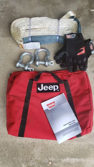 Jeep brand Warn winch accessory kit with BONUS items for Sale in Woodbine, MD