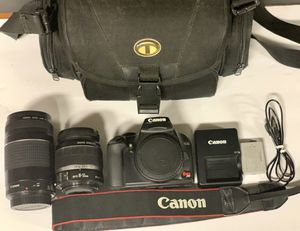 Canon XS Rebel DSLR Bundle w/ 18-55mm & 75-300mm Lenses for Sale in Philadelphia, PA