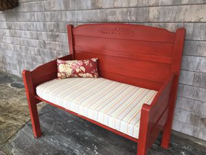 MUST SELL, Price in Description : Wood Bench, Wrought Iron Patio Table/Chairs, Lounge Chair for Sale in Northport, ME