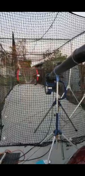 Baseball Batting cage with 2 pitching machines for Sale in Bassett, CA