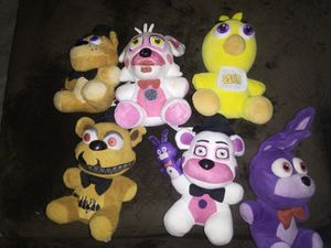 FNAF FIVE NIGHTS AT FREDDYS PLUSHY COLLECTION for Sale in Phoenix, AZ