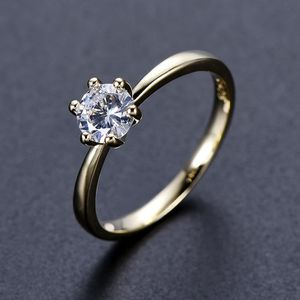 4CT CZ Dimond Round Cut High Clarity- 18k Gold for Sale in Los Angeles, CA