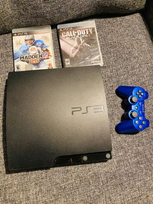 PS3 with games and controller for Sale in Dallas, TX