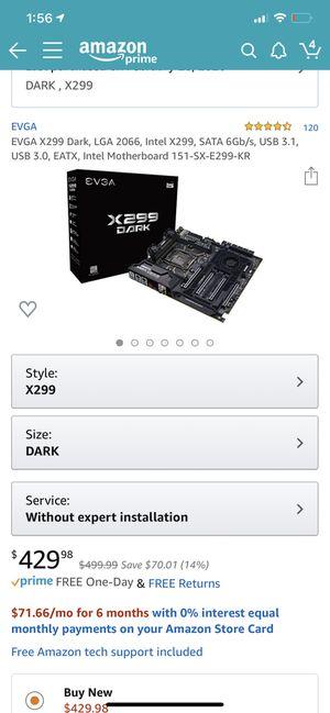 Evga dark x299 motherboard for Sale in Hallandale Beach, FL