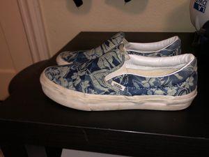Vans Slip Ons Blue Hawaiian Print W8.5/M7 for Sale in Cerritos, CA