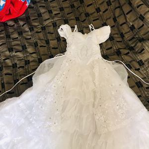First Communion/ Baptism Dress Size 12 and veil for Sale in San Diego, CA