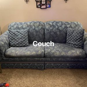 Couch With Hide A Bed In It With Matching Loveseat for Sale in Wichita, KS