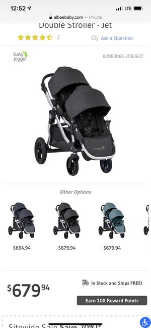 Baby Jogger City Select Double Stroller for Sale in El Cajon, CA