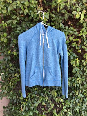 Size small blue zip up jacket for Sale in Riverside, CA