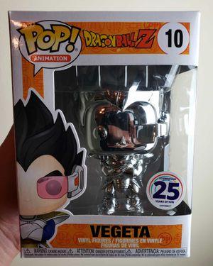Dragon Ball Z Funko Pop - Villain Vegeta (Silver Chrome) for Sale in Miami, FL