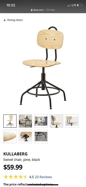 """Ikea Kullaberg Chair, Tarendo Desk, and """"Not"""" Standing Light for Sale in San Diego, CA"""