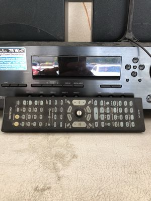 Onkyo stereo system works excellent with original remote and comes with the speakers in the picture for Sale in Fontana, CA