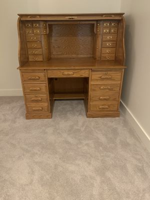 Antique Roll Top Executive Desk for Sale in Renton, WA