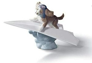 Lladro Let's Fly Away, porcelain dog figurine for Sale in Windermere, FL