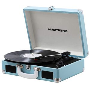 New Record Player Vinyl Turntable w/ Speakers, 3 Speed Suitcase Record Player Support Vinyl-to-MP3 for Sale in Spring, TX