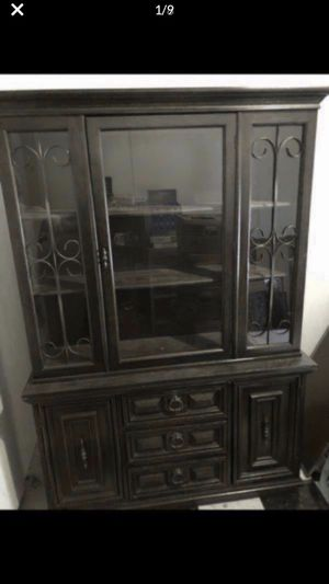 """Kitchen Hutch, China Cabinet, Kitchen Furniture H 70"""" L 48"""" W 15 """" Great condition $400 or Best Offer Need to get it out of the house. Antique piece for Sale in Marble Falls, TX"""