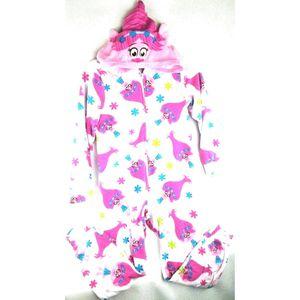 DreamWorks Trolls Poppy Girls Blanket Sleeper Zip Up Pajamas Size L Large Pink  Condition: Pre- for Sale in Avondale, AZ