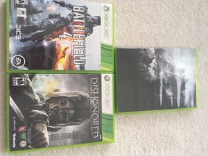 Xbox 360 games, used, $3 each for Sale in Potomac, MD