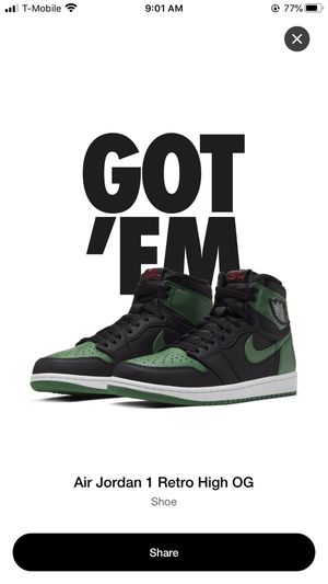 Jordan 1 Pine Green for Sale in Alhambra, CA