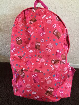 Large girl's pink Owl backpack. New with tags! for Sale in Fontana, CA
