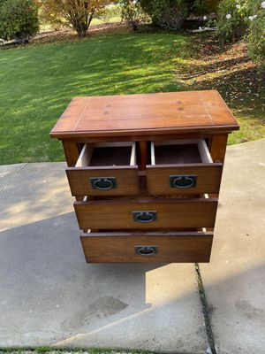 4 Drawer Mission Style End Table/Night Stand for Sale in Clovis, CA