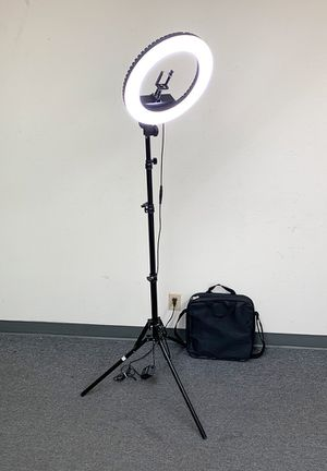 """New $75 each LED 13"""" Ring Light Photo Stand Lighting 50W 5500K Dimmable Studio Video Camera for Sale in South El Monte, CA"""