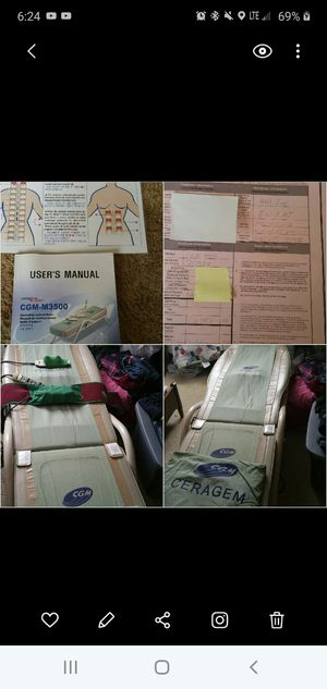 Heated roller massage bed for Sale in Woodland, MI
