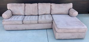 Micro fiber couch with chaise! for Sale in Temecula, CA